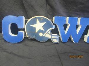 METAL COWBOYS SIGN